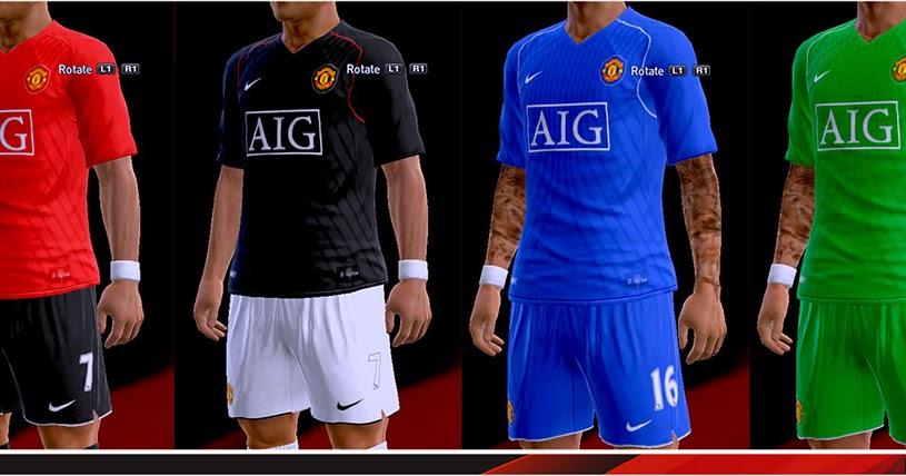 PES 2013 Kits Manchester United 2007-08