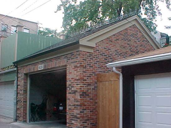 Brick Laminate Picture Brick Garage Construction