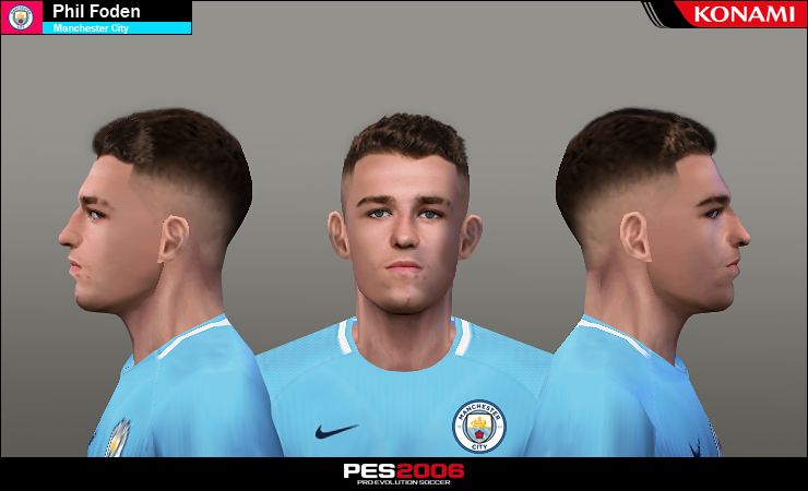 Face & Hair ( Phil Foden ) #PES6PatchesOfficial