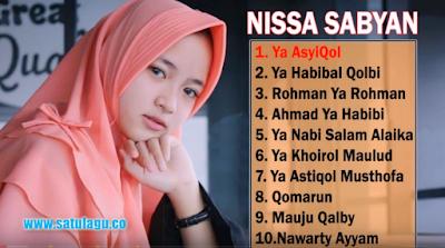 Album Nonstop Mp3 Nissa Sabyan Terbaru 2018 Lengkap, Nissa Sabyan, Lagu Religi, Lagu Nonstop,