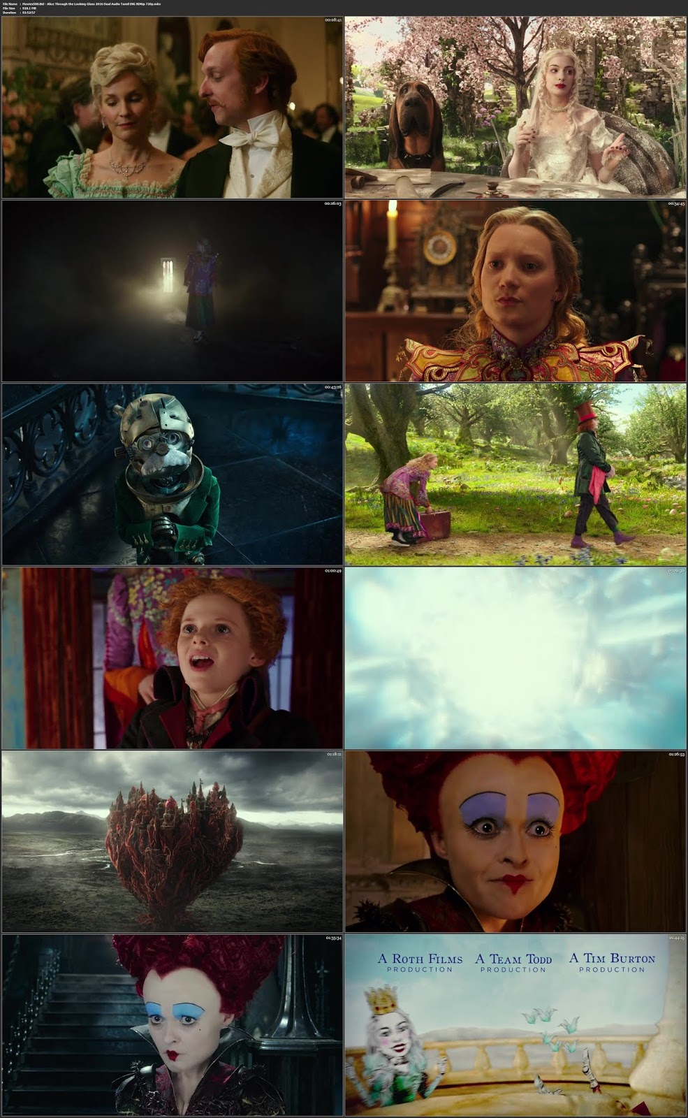 Alice Through the Looking Glass 2016 Dual Audio Tamil ENG BluRay 720p