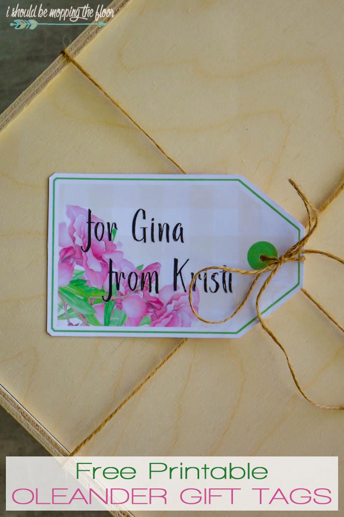 Oleander Gift Tags