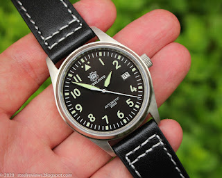 SteelDive SD1940 Pilot watch  with Seiko NH35 movement, sapphire crystal