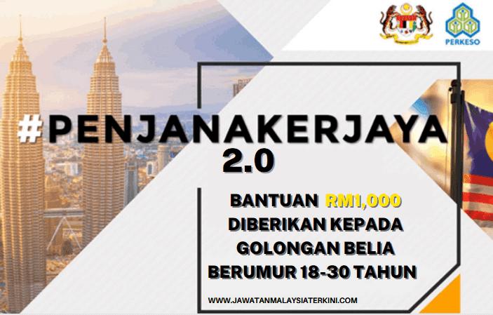 Bantuan RM1,000 Diberikan Kepada Golongan Belia Berumur 18-30 Tahun - Program PENJANAKERJAYA 2.0