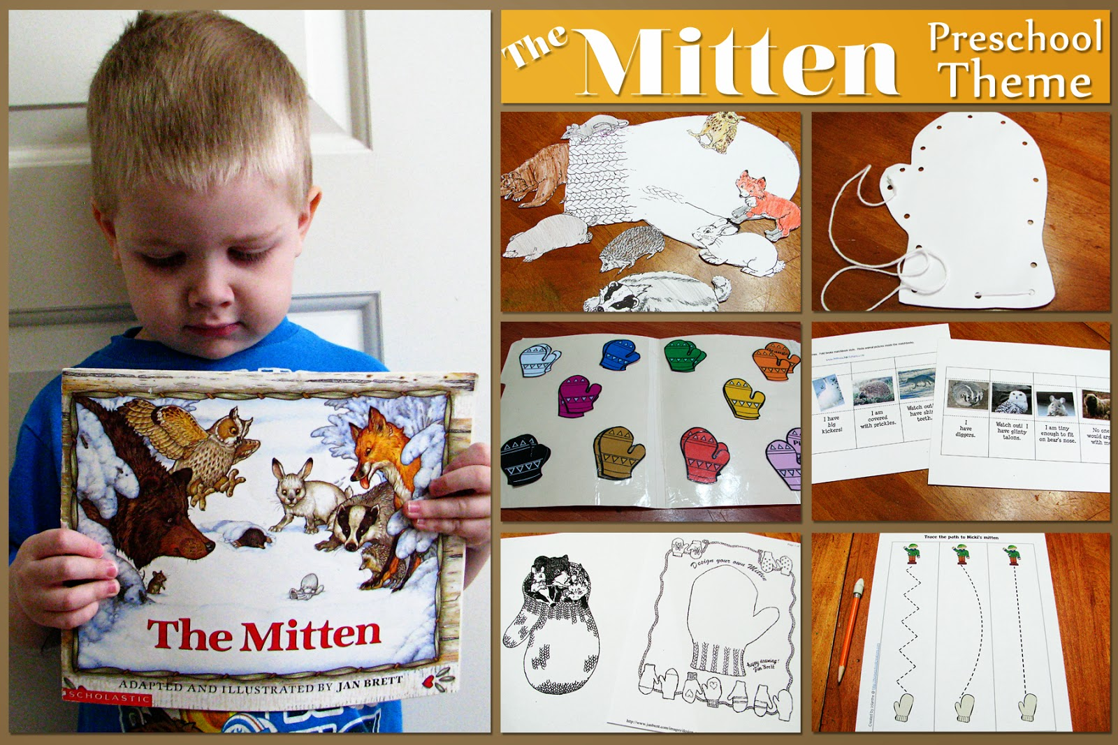 Mommy S Little Helper The Mitten Preschool Theme