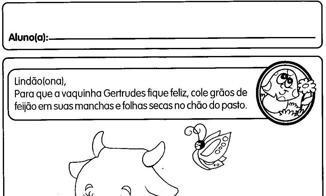 ATIVIDADES PONTILHADAS PARA MATERNAL