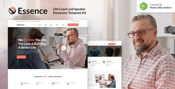 Best Life Coach and Speaker Elementor Template Kit