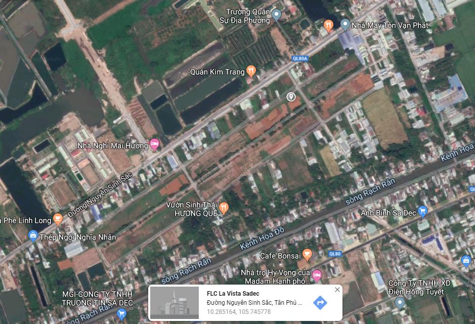 vị trí shop villas FLC La Vista Sadec