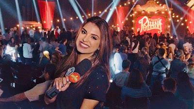 Mônica na coletiva de imprensa de As Aventuras de Poliana - Divulgação