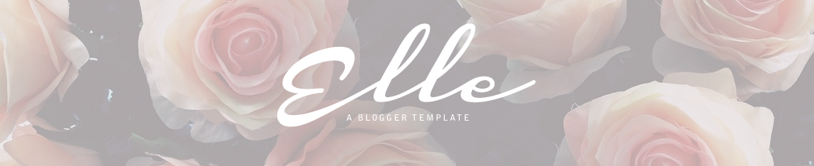 Elle Premade Blogger Template by Envye