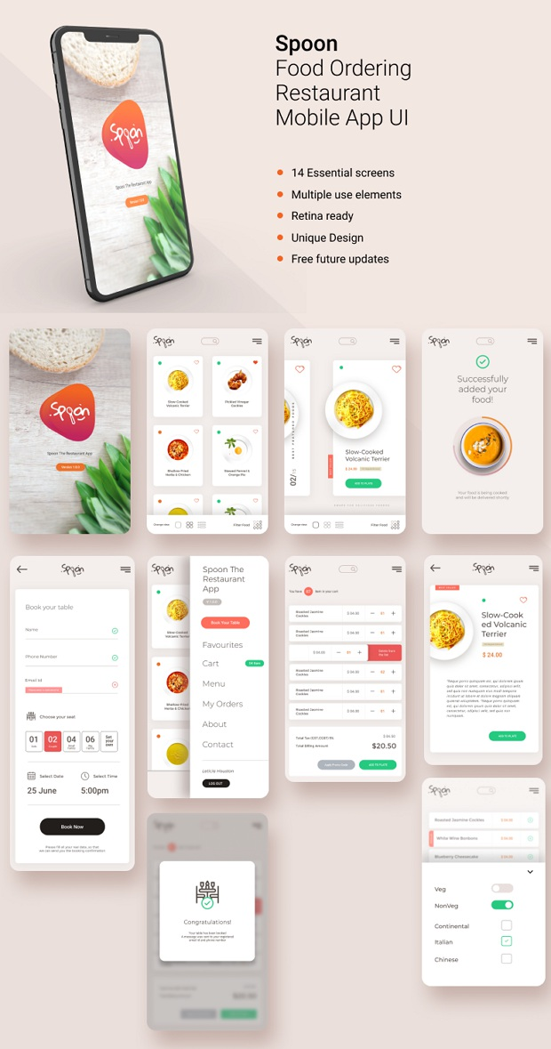 Food Ordering and Restaurant Mobile App