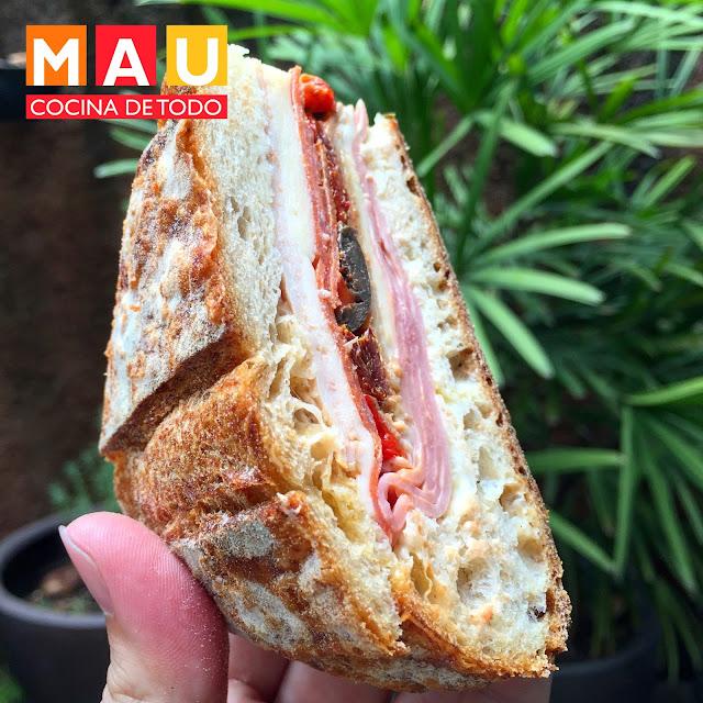 delicioso sandwich para meriendas