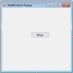 c# notification window
