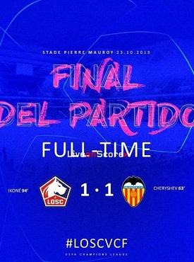 cuplikan gol liga champions losc vs valencia 1-1