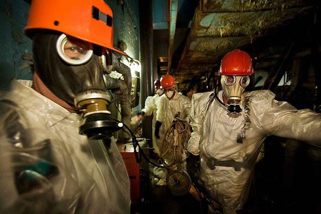 Chernobyl: em áreas críticas só com proteção anti-radiação e não demorando muito.