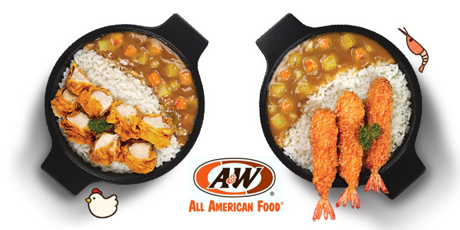 Japanese Curry Chicken Premium Mixbowl, Persembahan A&W Restaurant