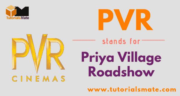 PVR Full Form