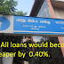 SBI All loans would become cheaper by  0.40%.