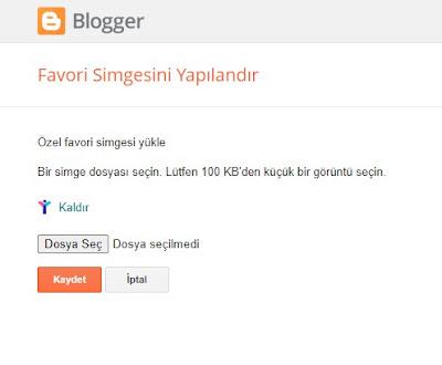 Blogger Yönetim Paneli, Temel Ayarlar, Favori Simgesini (favico) Yapılandır