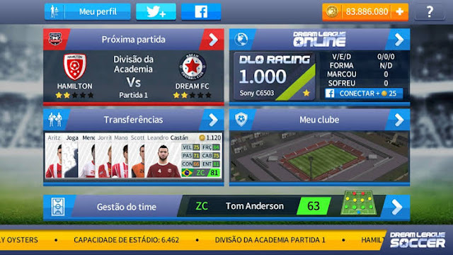 Download Dream League Soccer 2018 v5.054 Apk Mod (Dinheiro Ilimitado)