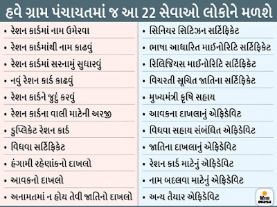 22 Services Were Made Online Of The Rural People Of Gujarat