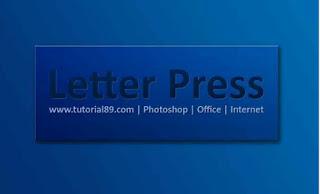 Membuat Tulisan Efek Letterpress
