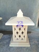 Lampion taman minimalis motif anyaman