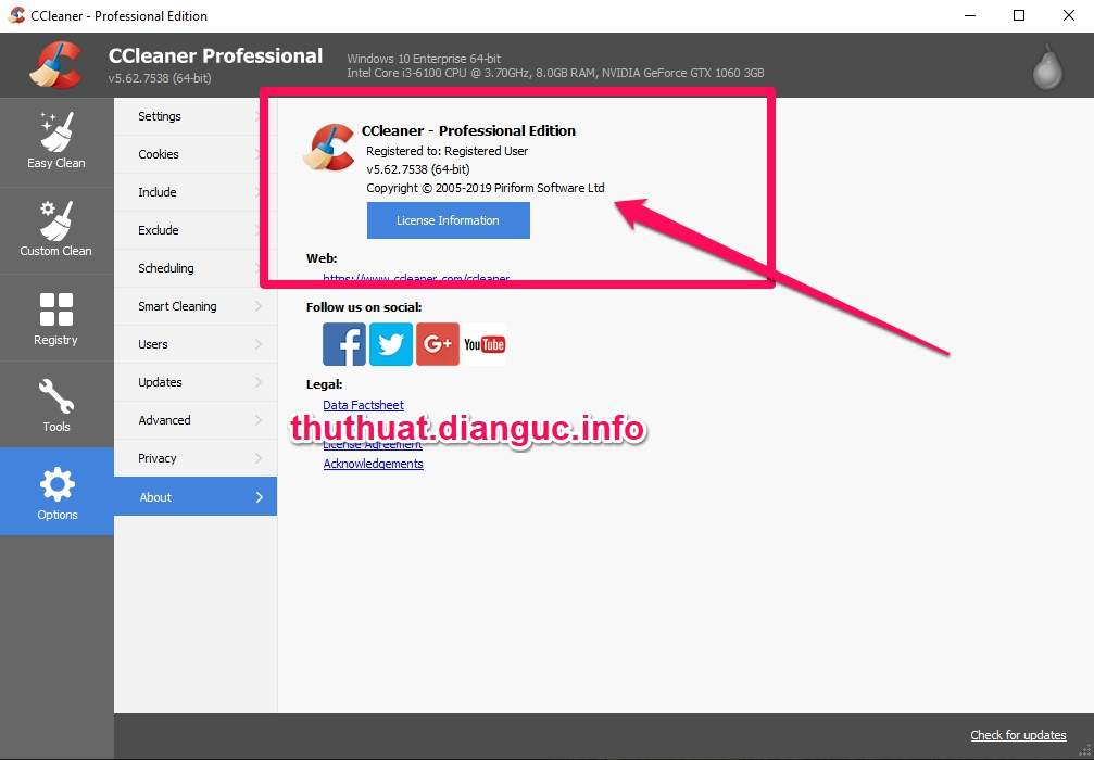 Download CCleaner v5.62.7538 Full Key miễn phí mới nhất