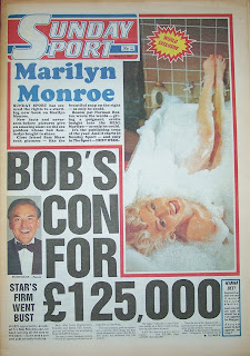 Front page of the Sunday Sport newspaper from 10th May 1987