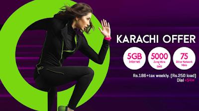 Zong karachi offer Package 2020