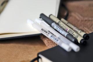 bullet journal art journal akcesoria narzędzia