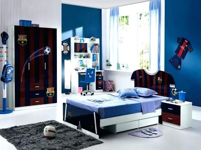 تصميم غرفة نوم شبابية رياضية