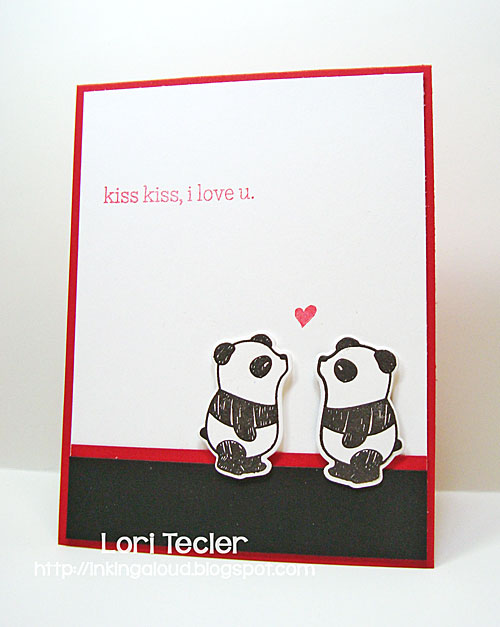 Kiss Kiss card-designed by Lori Tecler/Inking Aloud-stamps and dies from Mama Elephant