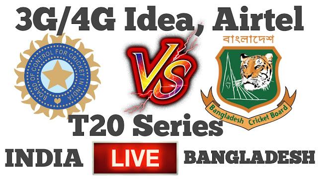 India vs Bangladesh, watch Live Match 3G/4G , online sujhav, vindravan Patel.
