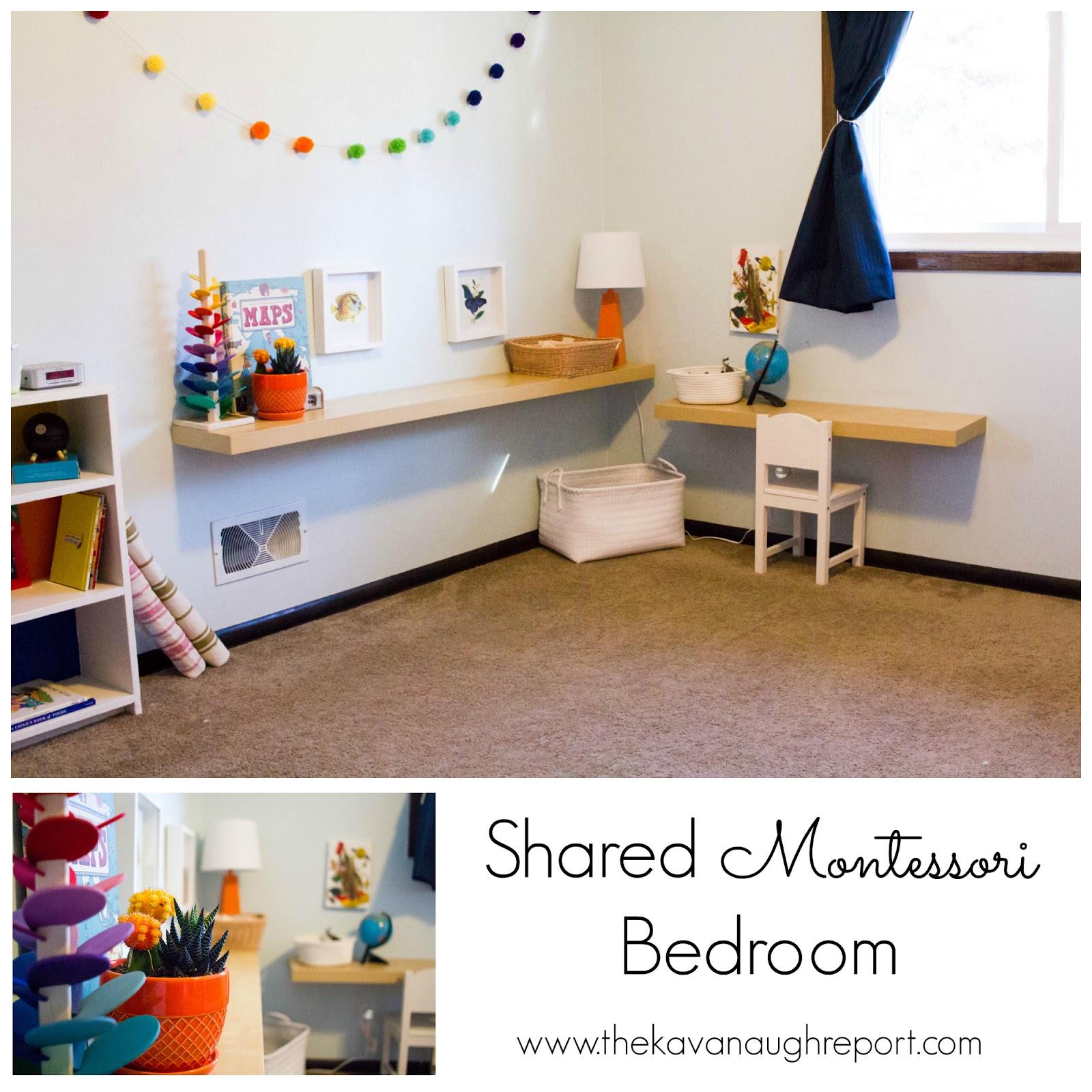 shared montessori bedroom