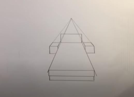 رسم المساقط الثلاثة لحجرة النوم