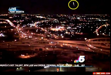 VIDEO - NBC DFW Tower Cam Captures Strange Light (UFO)