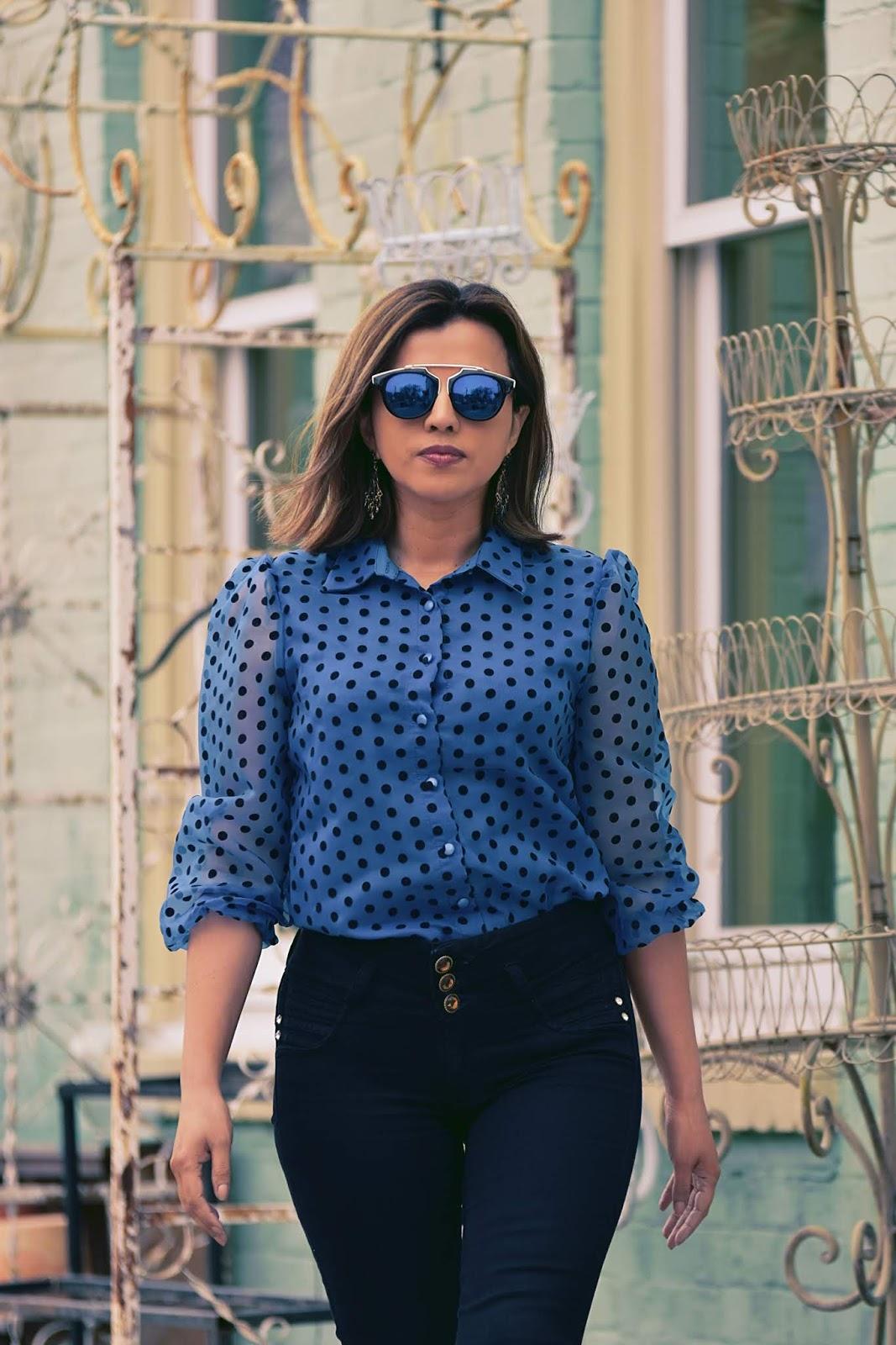 Polka Dots En Primavera-MariEstilo-LuxeGal-Fashion-StreetStyle-look of the day-dcblogger-marisolflamenco-armandhugon-blogger de moda-it girl-