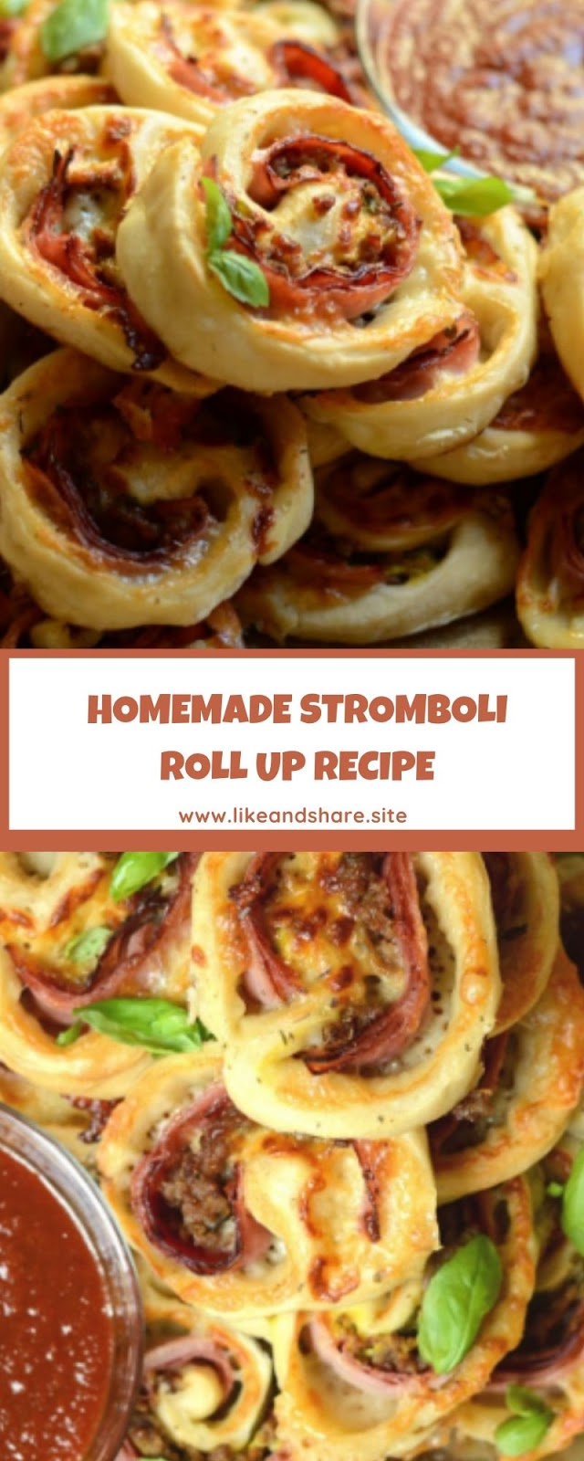 HOMEMADE STROMBOLI ROLL UP RECIPE