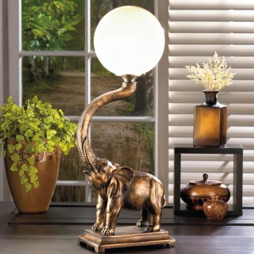Trumpeting Elephant Table Lamp
