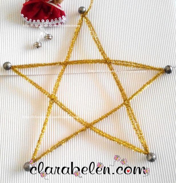 Ideas para manualidades de Estrellas de Navidad