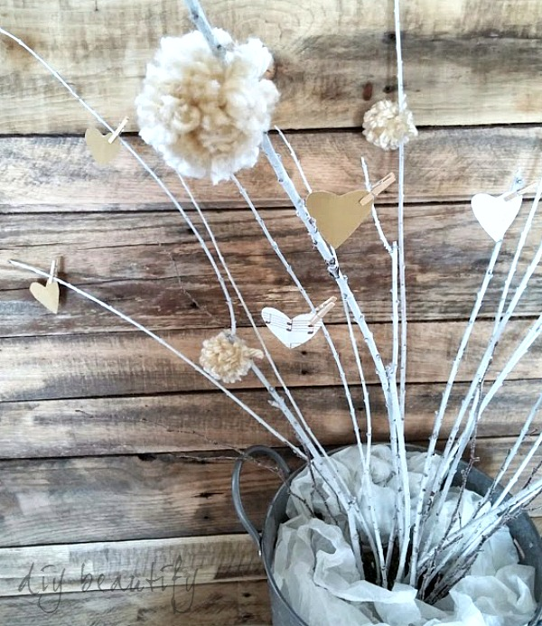 neutral Valentine decor