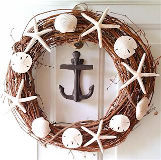 How to make a sea shell wreath