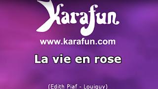 "Karaoké ""La Vie en Rose"""