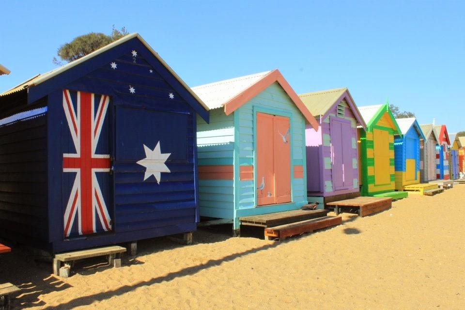 [澳洲工作假期系列] Brighton Beach 彩紅小屋 1