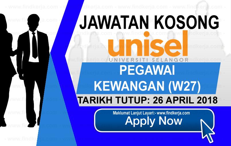 Jawatan Kerja Kosong UNISEL - Universiti Selangor logo www.findkerja.com april 2018
