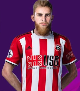 PES 2020 Faces Oliver McBurnie by Rachmad ABs
