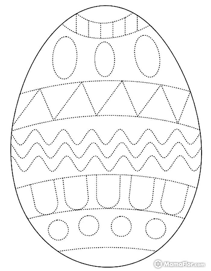 Huevos de Pascua Delinear Colorear Pintar Imprimir