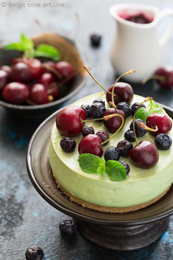 Avocado cheese cake photos