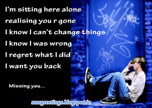 Sad Missing You Quotes English Sms Greetings